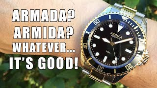 A Quality Diver from HK! Armida A2 Black Two Tone Automatic Dive Watch Review - Perth WAtch #134