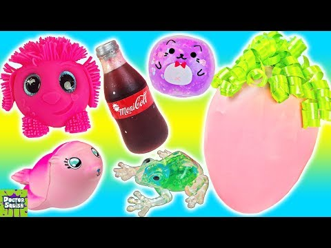 Cutting OPEN Recycled Squishy Toys! All Papa Squish Homemade Toys! Doctor Squish