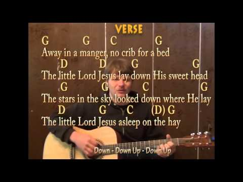 Away In A Manger (Play and Sing) Easy Guitar Lesson on How to Play and Sing Away in a Manger