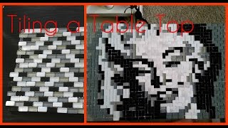 Diy Furniture Makeover, Kitchen Backsplash To Glass Mosaic Table Top