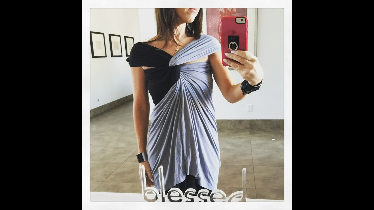 e0e54c8014643 Covered shoulder with cut out details- with 2 HipKnoTies - YouTube