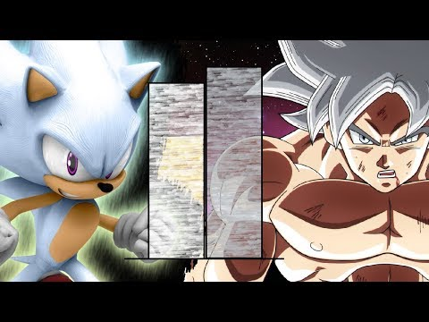 Goku VS Sonic POWER LEVELS Over The Years