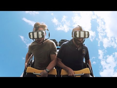 Generate Riding the Superman virtual reality roller coaster at Six Flags Snapshots
