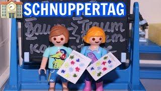 Playmobil Film deutsch -  Schnuppertag in der Schule - Kita Ausflug in die Schule