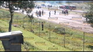 Cae avioneta sobre la carretera México-Querétaro