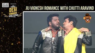 RJ Vignesh R0mances with Chutti Aravind | Part 1 | #DesiAwards2017 | Smile Settai