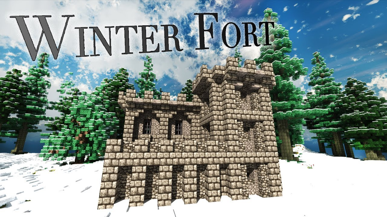 Minecraft Medieval Winter FortBarracks Showaround