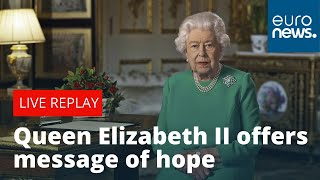 Video source: bbc studios eventsbritain's queen elizabeth ii addressed the nation sunday in a rare televised speech and called for unity amid coronavirus...