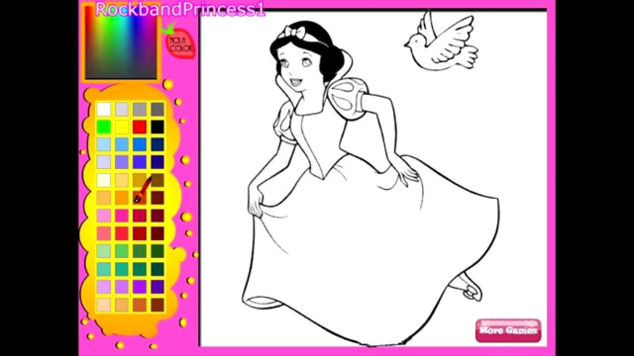 Disney Princess Snow White Coloring Pages - Coloring Pages For Girls ...