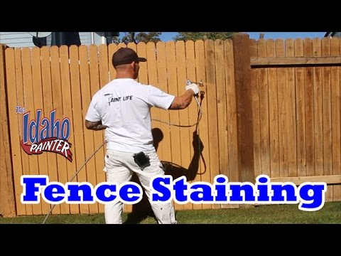 Spray Or Brush Stain Fence