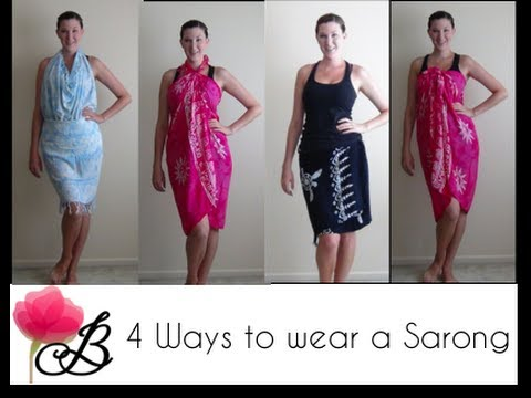 79880f0e53858 4 ways to wear a Sarong - YouTube