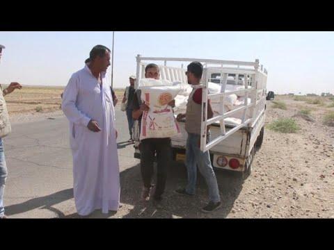 حصري - شباب عراقيون ينظمون حملة لإغاثة نازحي الشرقاط  - 00:21-2017 / 10 / 12