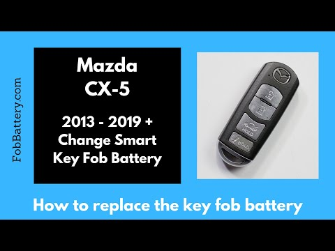 Mazda CX-5 Smart Key Fob Battery Replacement (2013 – 2019)