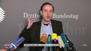 """AfD - Dr. Gottfried Curio: """"Skandal, wie Politik und Medien Falschdarstellungen verbreitet haben"""""""