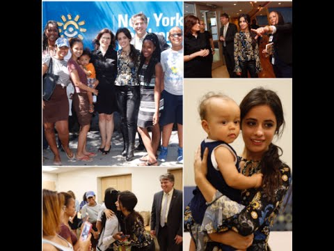 Camila Cabello Fifth Harmony Visits Children's Health Fund in the Bronx 29th August 2016