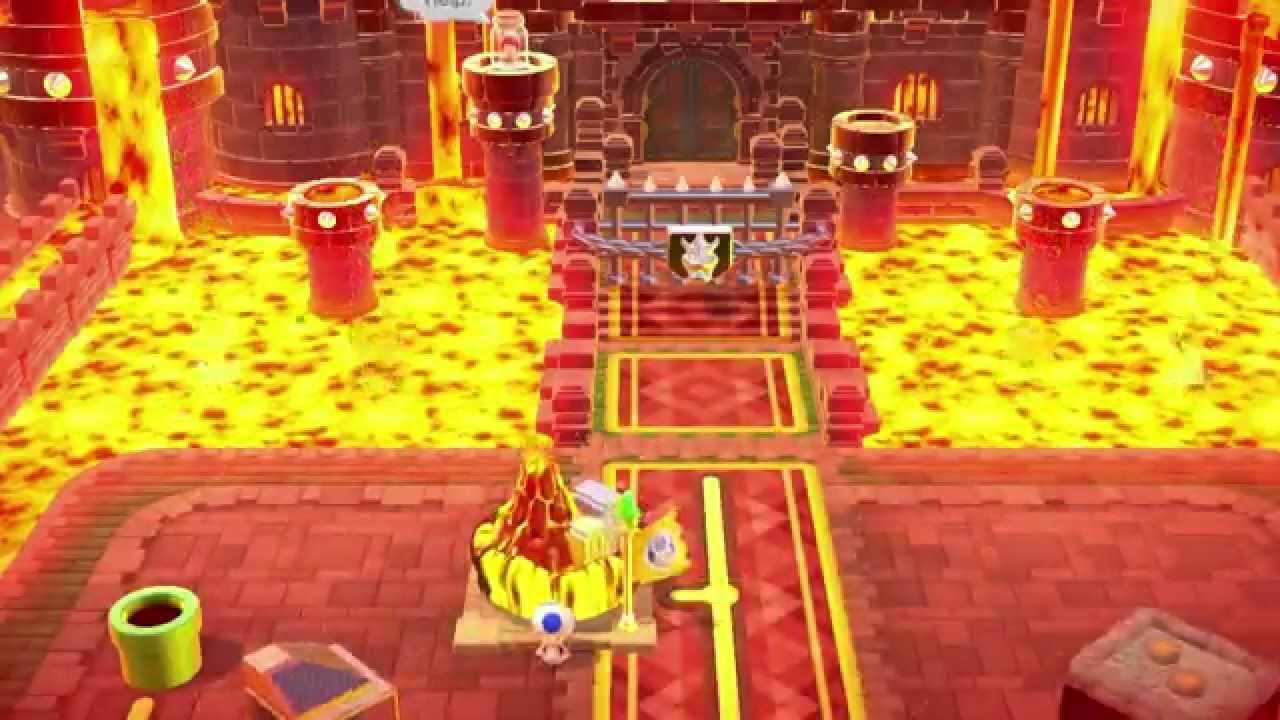 Super Mario 3d World Castle 7 Simmering Lava Lake 100
