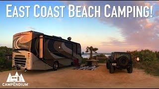 East Coast Beach Camping - RV & tent camping on or near the beach