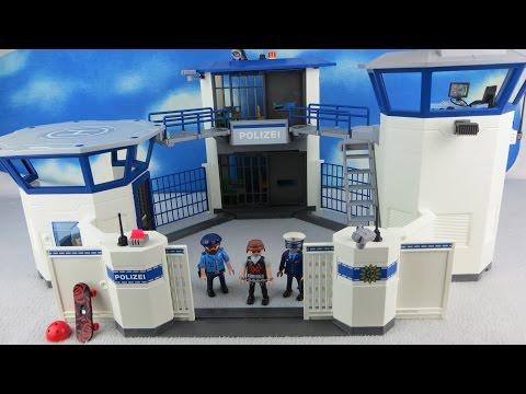 playmobil-polizei-deutsch:-polizeistation-&-kommandozentrale-6872-ausgepackt-&-angespielt