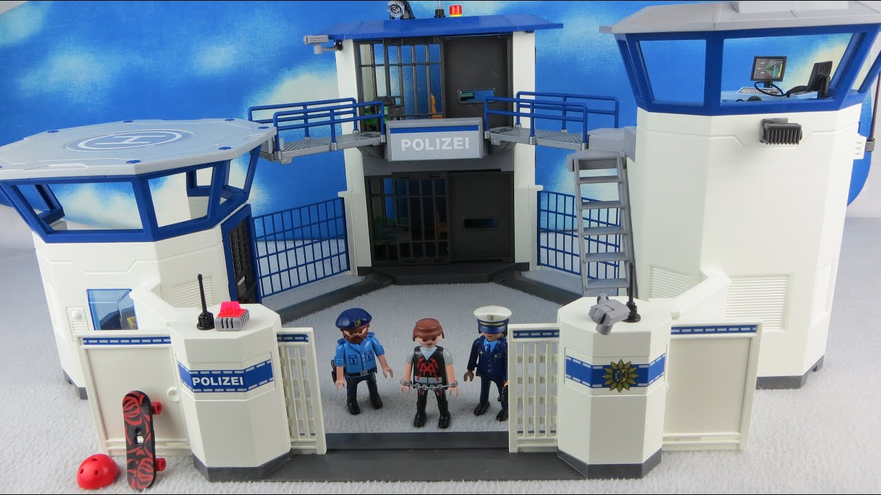 playmobil polizei deutsch polizeistation. Black Bedroom Furniture Sets. Home Design Ideas