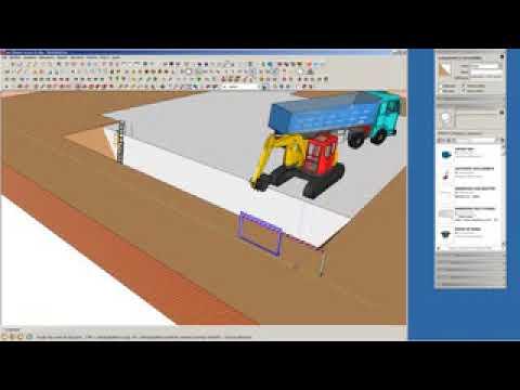 preparazione di layout cantiere con sketchup