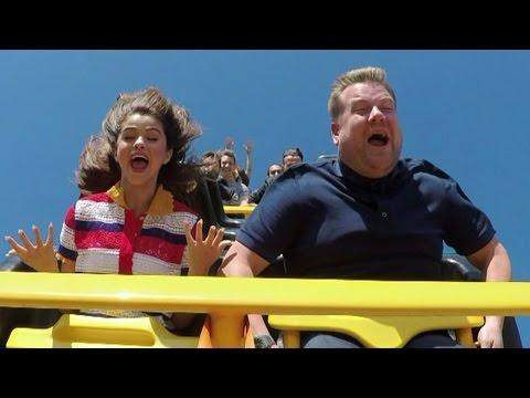 Selena Gomez & James Corden Ride Rollercoasters & Eat McDonald's In NEW Carpool Karaoke