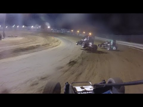 Christopher Bell Southern Illinois Raceway POWRi Midgets September 16, 2017 | ONBOARD