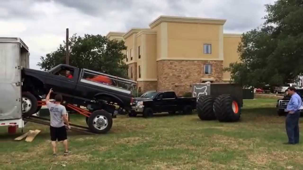 monster truck rides getting set up xtremexperience2 in bastrop youtube. Black Bedroom Furniture Sets. Home Design Ideas
