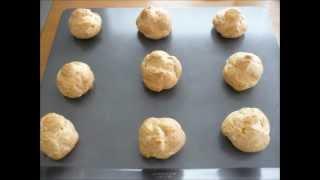 Cream Puff Recipe (with Soft Custard Filling And Caramel Glaze)