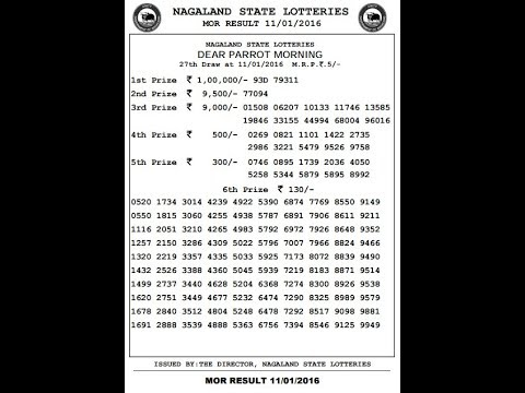 NAGALAND STATE LOTTERY OLD RESULT