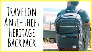 Travelon Anti-Theft Heritage Backpack | Classic Style with Modern Functionality