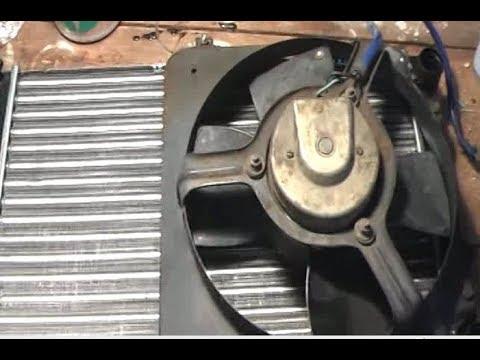 Потёк радиатор охлаждения ВАЗ 2109. Замена на новый.