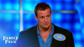 Super Bowl special! Rob Gronkowski's dance moves wow Steve Harvey! | Family Feud