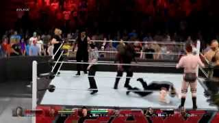 WWE 2K15 PC Gameplay: OMG! Moment - The Shield's Triple Powerbomb - 1080p 60fps (Radeon R9 295x2)