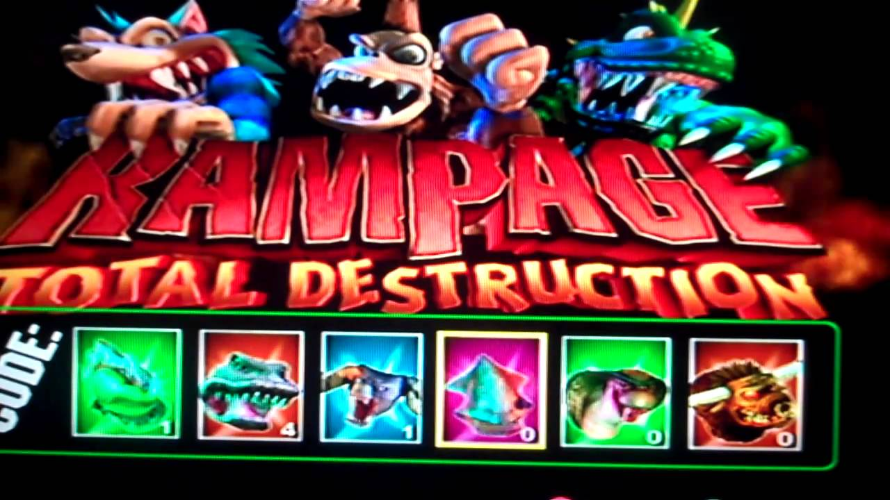 Rampage Total Destruction How You To Do The Code Youtube