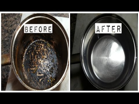 DIY-How I clean my burnt pan easily|Homemade cleaning hack(Quick,easy and effective)