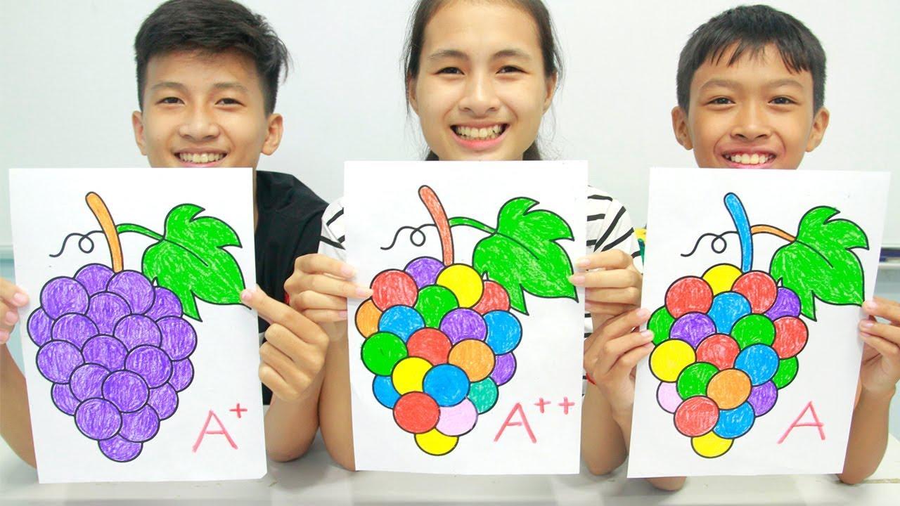 Grapes Fruits, Warna Warni Belajar Menggambar dan Mewarnai untuk Anak