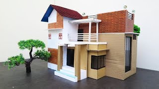 How To Make A Beautiful Modern House From Cardboard ~ DreamHouse  -  Architecture