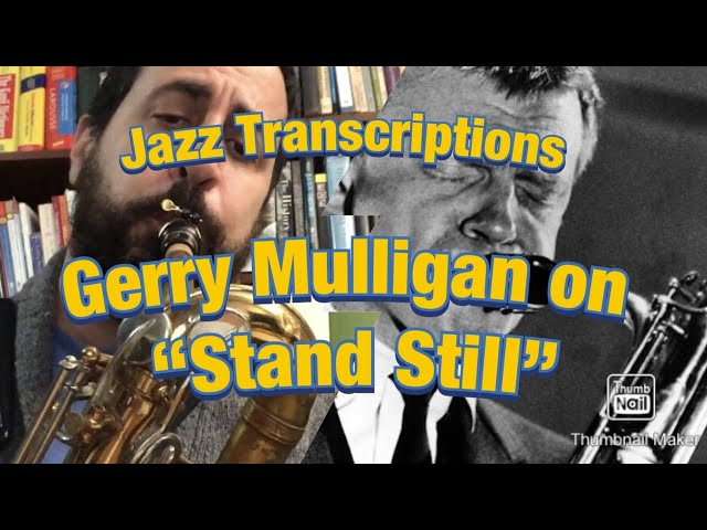 Bari Sax Transcription - Jon De Lucia plays Gerry Mulligan's Solo on
