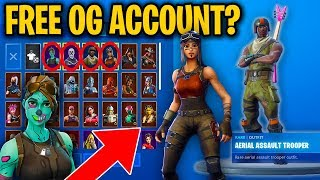 How I Got A *RARE* Fortnite Account For FREE (Renegade Raider, Ghoul Trooper, and MORE)