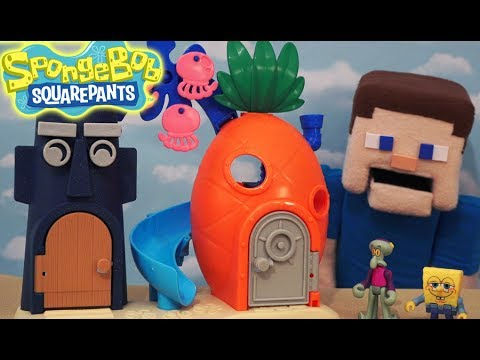 Spongebob Squarepants Bikini Bottom Playset House Imaginext Action Figures Fisher Price Unboxing