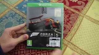 Unboxing Forza Motorsport 5 Xbox One Day One Edition