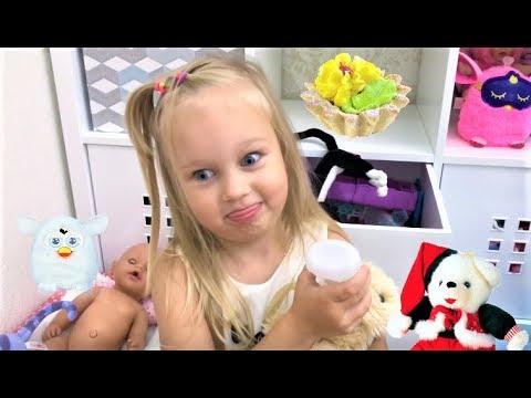 Алиса показывает свои ИГРУШКИ !!! Мягкие игрушки и Фёрби для детей My Toys !!!