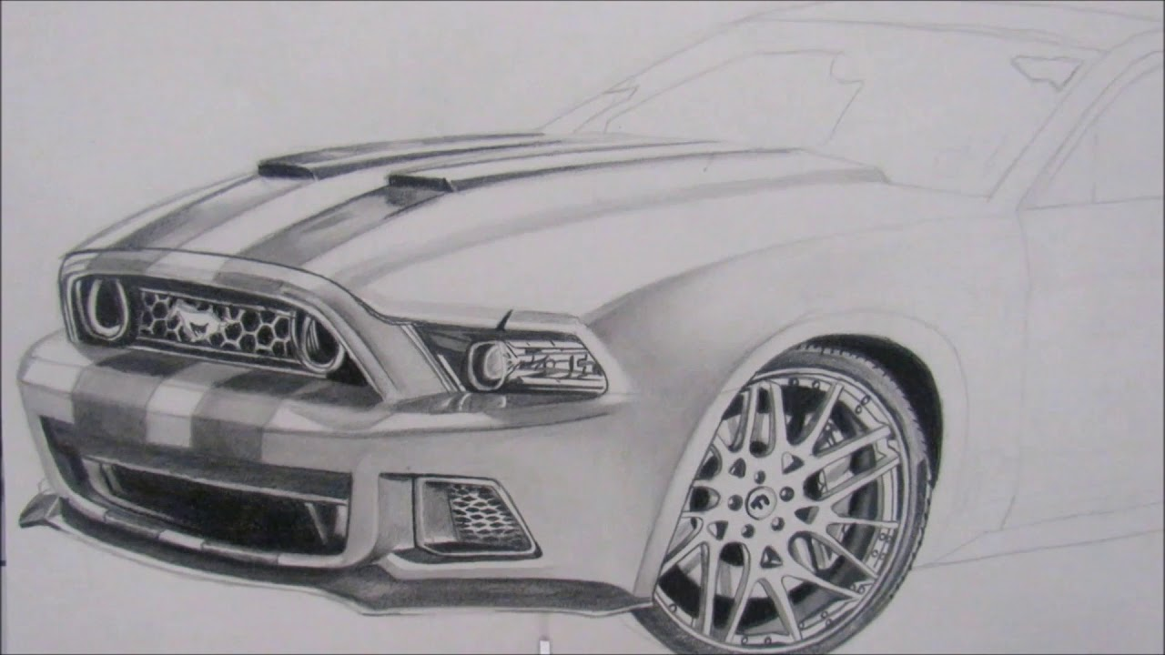 How To Draw A Car Ford Mustang Gt Como Dibujar Un Carro Ford