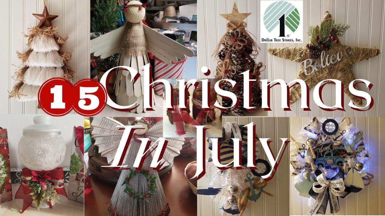 Christmas in July Dollar Tree DIY | Primitive Farmhouse Decor | Ornaments | Wreaths