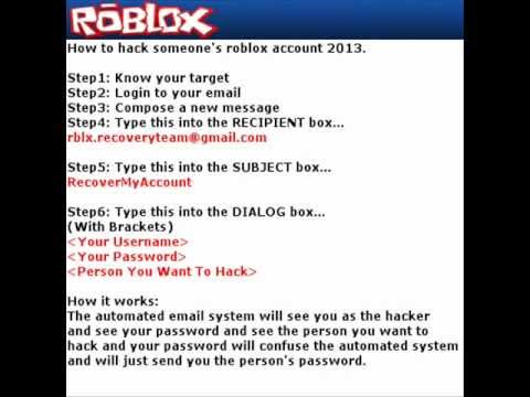 how to hack in a roblox account