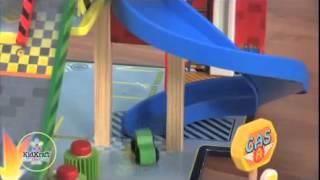 Boys Girls Mega Ramp Drag Racing Speedway Cars Play Set & Toy Garage Kidkraft 63267