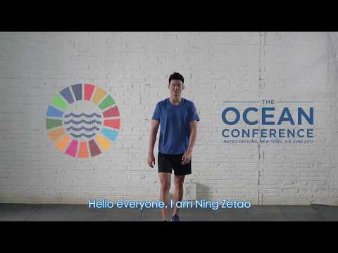 Champion swimmer Ning Zetao calls on everyone to help #SaveOurOcean