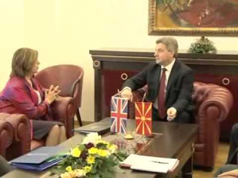 President Ivanov Meets Baroness D'Souza
