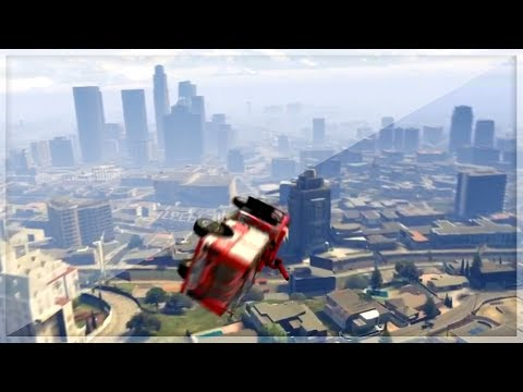 GTA 5 GLITCHES - FLYING FIRETRUCK AND DRIVING ON WALLS