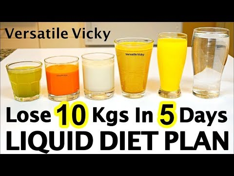 Liquid Diet For Weight Loss | Liquid Diet Plan To Lose Weight Fast 10Kg